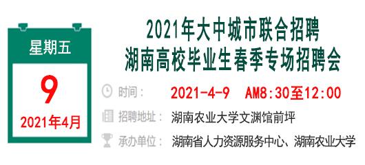 2021年大中城市联合招聘湖南高校毕业生春季专场招聘会